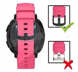 Výměnný pásek silikonový Samsung Galaxy Watch R810 42mm Velikost S Růžový