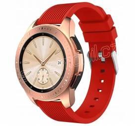 Výměnný pásek silikonový Samsung Galaxy Watch R810 42mm Velikost L Červený