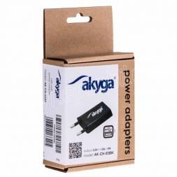 Akyga Síťová USB nabíječka 240V 1000mA 1xUSB černá