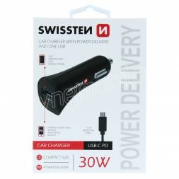 SWISSTEN CL ADAPTÉR POWER DELIVERY USB-C A USB 2,4A 30W POWER + KABEL MICRO USB