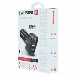 SWISSTEN CL ADAPTÉR 3x USB 5,2A POWER