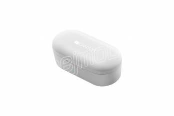 CANYON TWS-2 Bluetooth sportovní sluchátka s mikrofonem, BT V5, nabíjecí pouzdro 800mAh, bílá