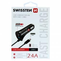 SWISSTEN CL AUTONABÍJEČKA USB-C A USB 2,4A POWER