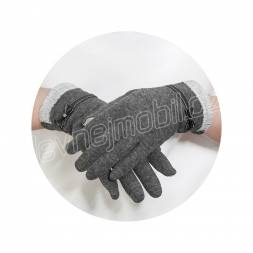 RUKAVICE TOUCH GLOVES BOW ŠEDÉ