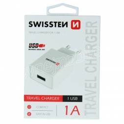 SWISSTEN SÍŤOVÝ ADAPTÉR SMART IC 1x USB 1A POWER BÍLÝ