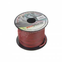 Kabel 2x1 mm, černočervený, 50 m bal 31210