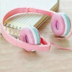 Sluchátka GJBY - AUDIO EXTRA BASS GJ-04 Růžová