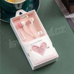 Sluchátka CASNI - CS-182 růžová