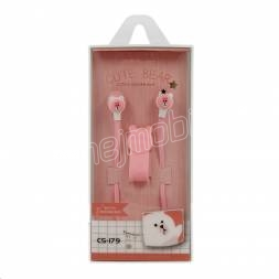 CASNI - sluchátka CS-179 s mikrofonem růžová
