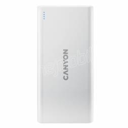 CANYON powerbanka PB-106W,10000mAh Li-poly,Input 5V/2A (Micro-USB/USB-C),Output 5V/2.1A (2xUSB-A),bílá