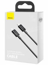 Baseus CATLYS-C01 Superior Fast Charging Datový Kabel USB-C to Lightning 20W 2m Black