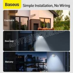 Baseus Home Energy Collection Series Solar Human Body Induction Wall Lamp Triangle Black