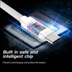 DATOVÝ KABEL SWISSTEN TEXTILE USB / USB-C 2,0 M ŠEDÝ